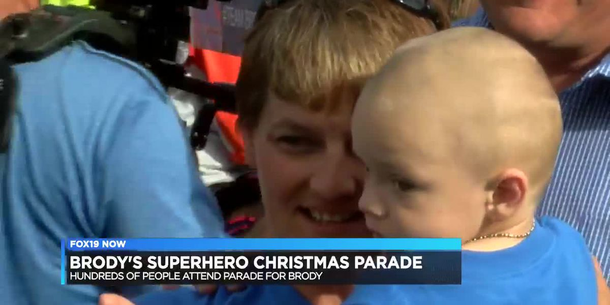 A Christmas parade in September for Brody Allen