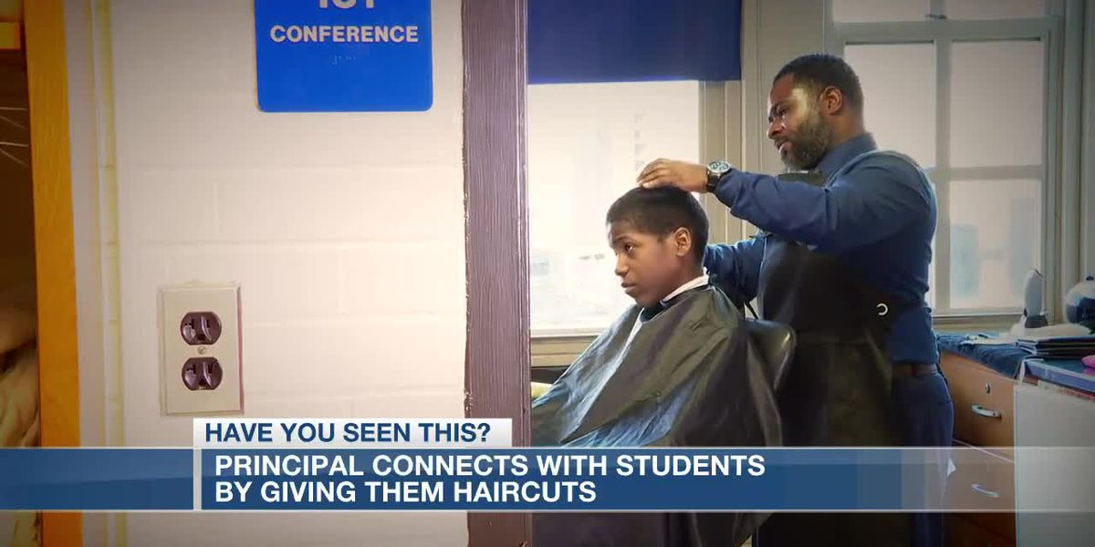 Principal connects with students by giving them haircuts