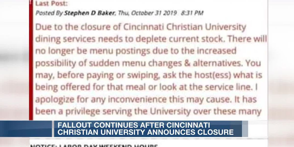 Fallout continues after CCU announces it's closing