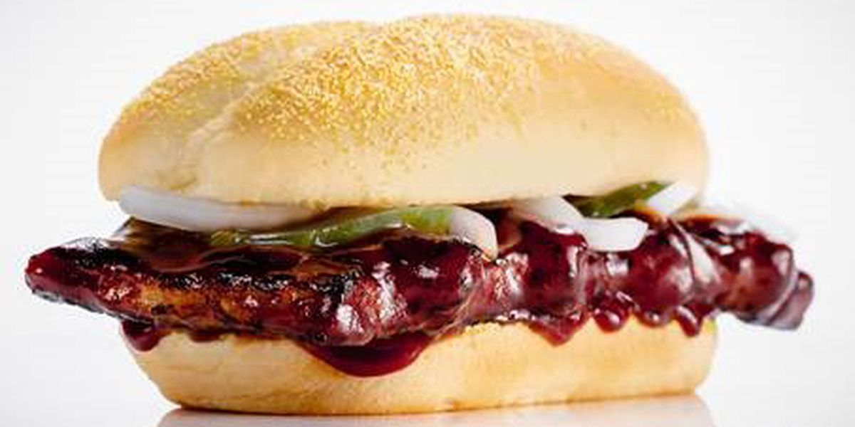 The McRib Is Back and You Can Have It Delivered