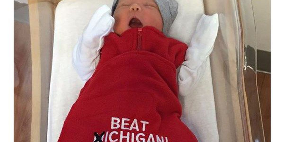 Baby Buckeyes get 'Beat Michigan!' gear ahead of big game