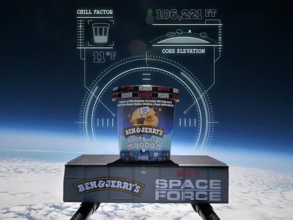 Ben & Jerry's sends new ice cream into stratosphere