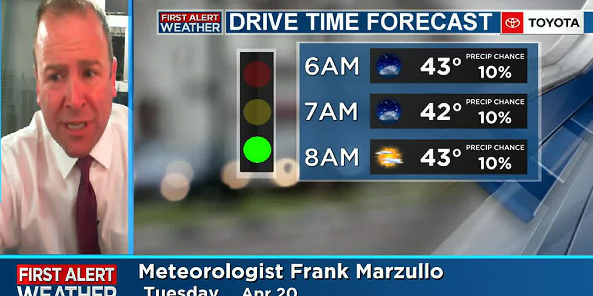Frank's Tuesday Morning Forecast Update