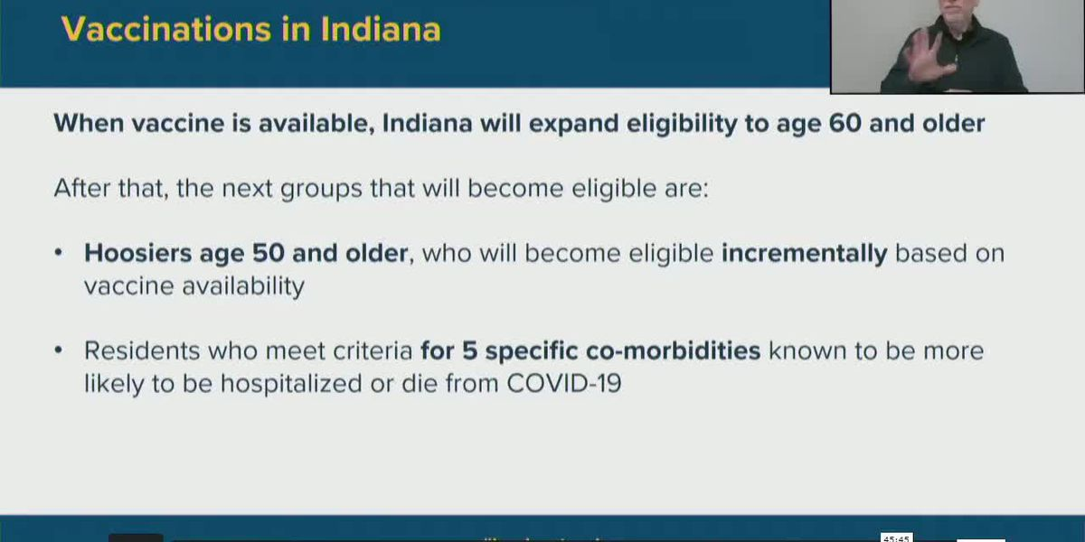 Gov. Holcomb gives update on COVID-19 vaccine rollout