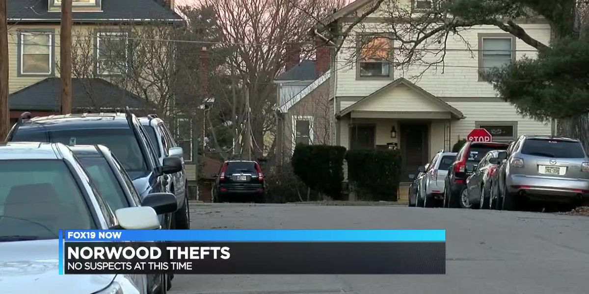 Police working to solve string of thefts in Norwood