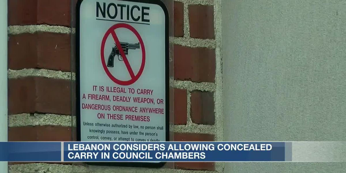 Lebanon considers allowing concealed carry in council chambers