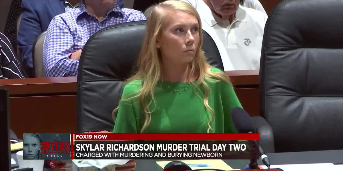 Skylar Richardson trial - Charged with murdering and burying newborn