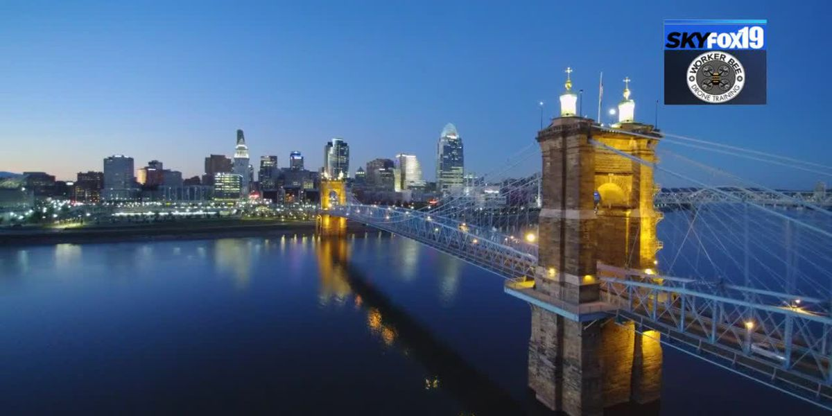 SkyFOX19 snags beautiful shot of the Roebling