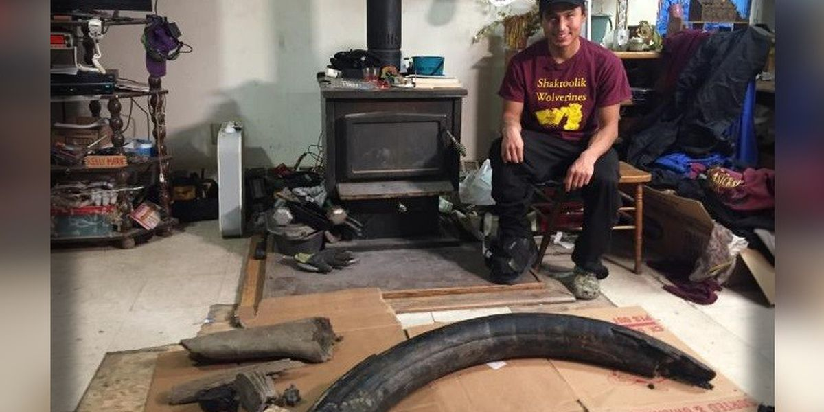Man stumbles upon 6-foot mammoth tusk in the sand