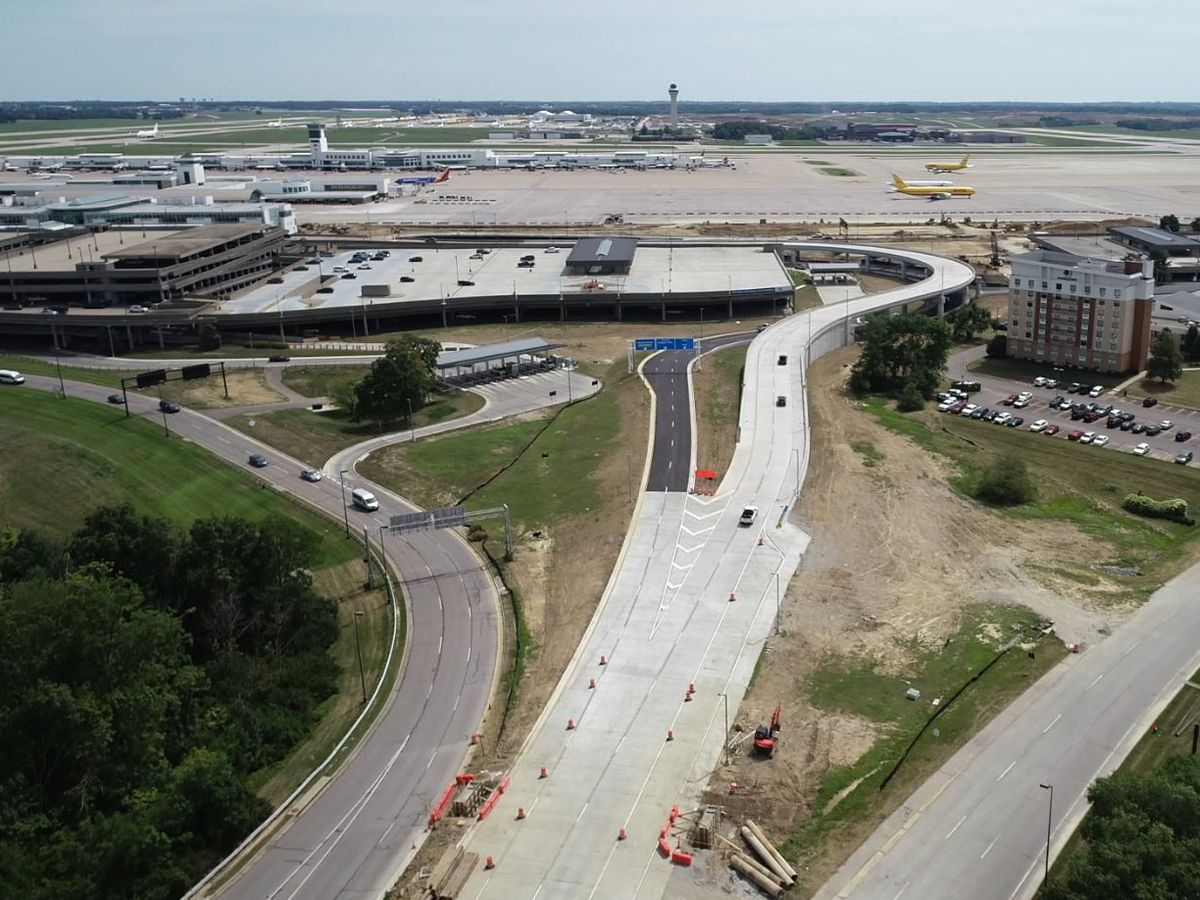 New roadway Terminal Road opens at CVG
