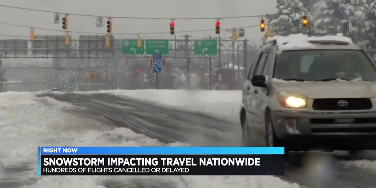 CVG experiencing travel delays due to winter storm