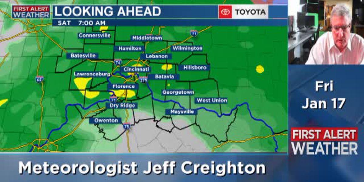 Meteorologist Jeff Creighton's Friday morning forecast