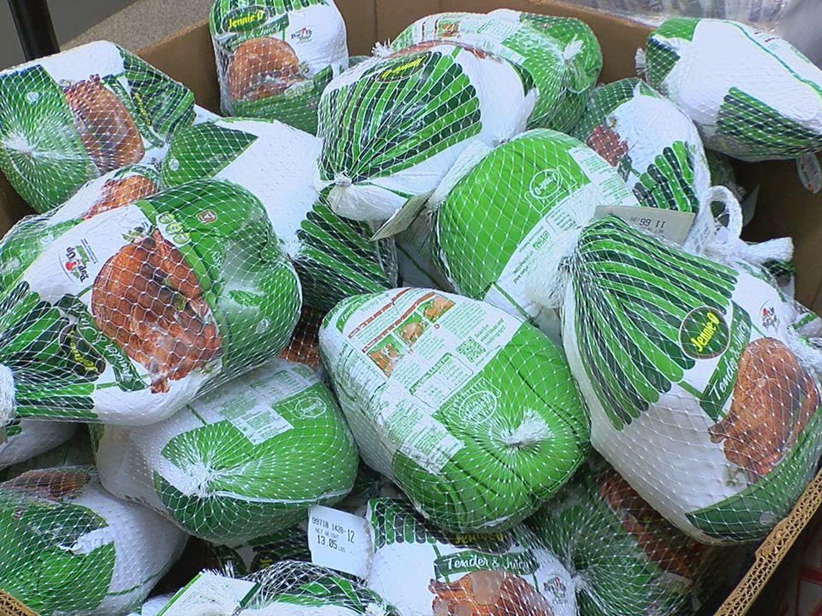 St. Vincent de Paul distributing Thanksgiving meals