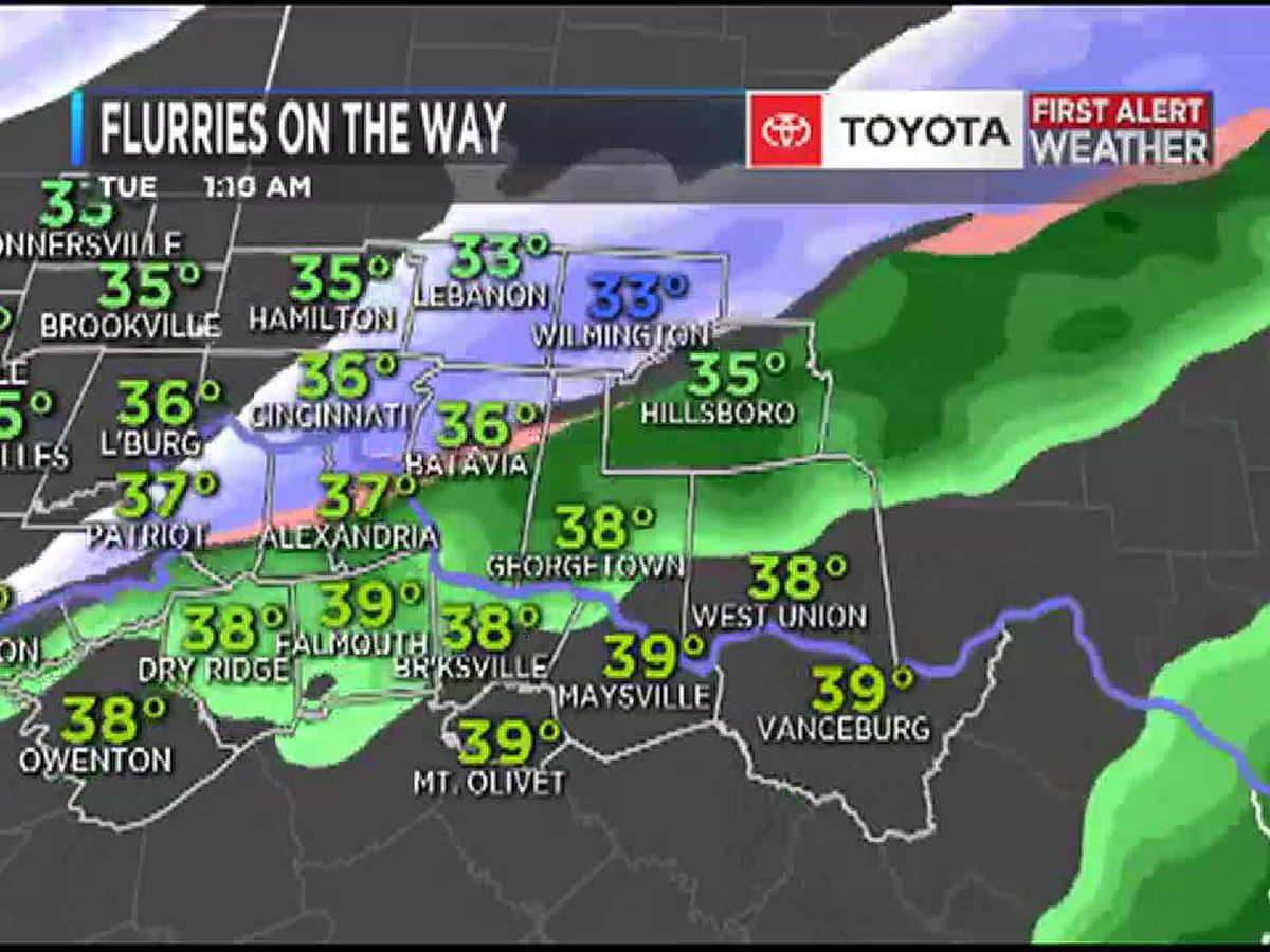 Flurries on the way