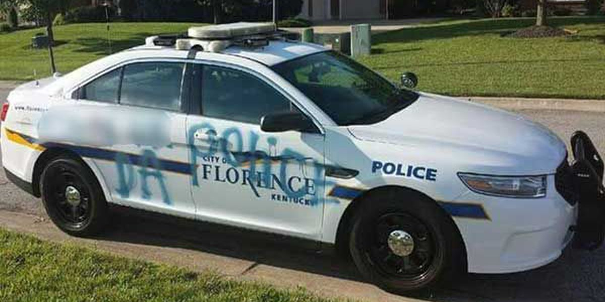 Officials looking for person who vandalized Florence police car
