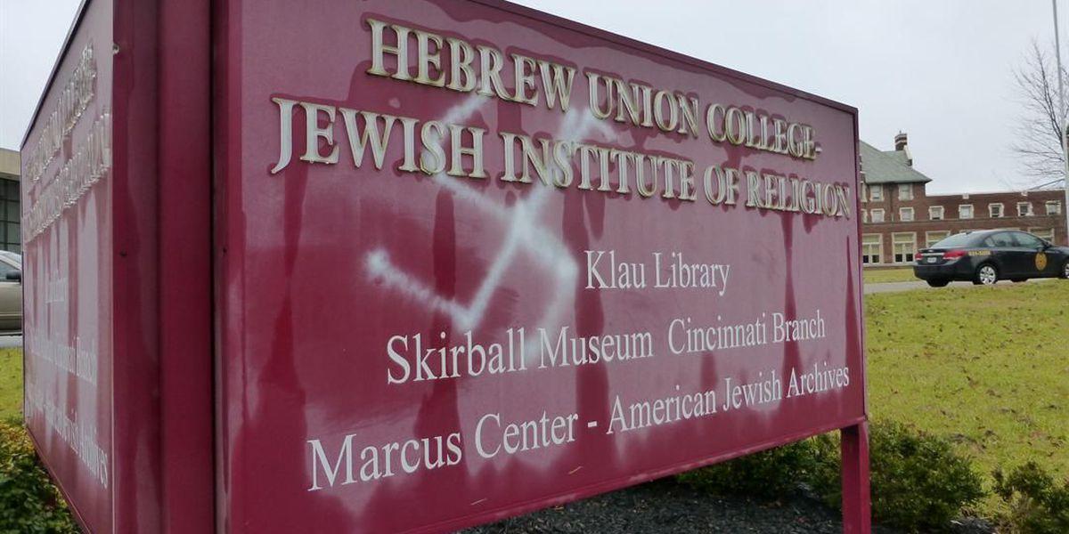 Police investigate swastika vandalism at Hebrew Union College
