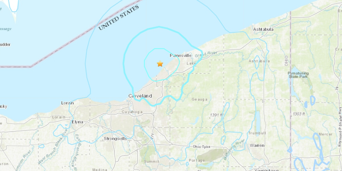 USGS confirms 4.0 magnitude earthquake near Eastlake, rumbles felt throughout Northeast Ohio (video)