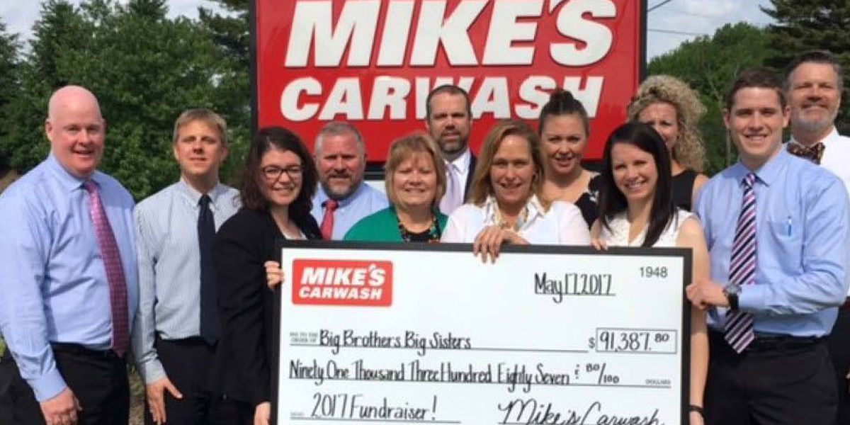 Mike's Car wash donates $91,387 to Big Brothers Big Sisters
