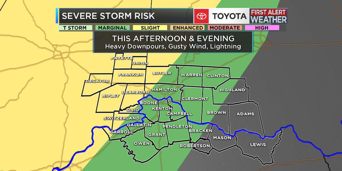 FIRST ALERT WEATHER DAY: SEVERE RISK THIS AFTERNOON