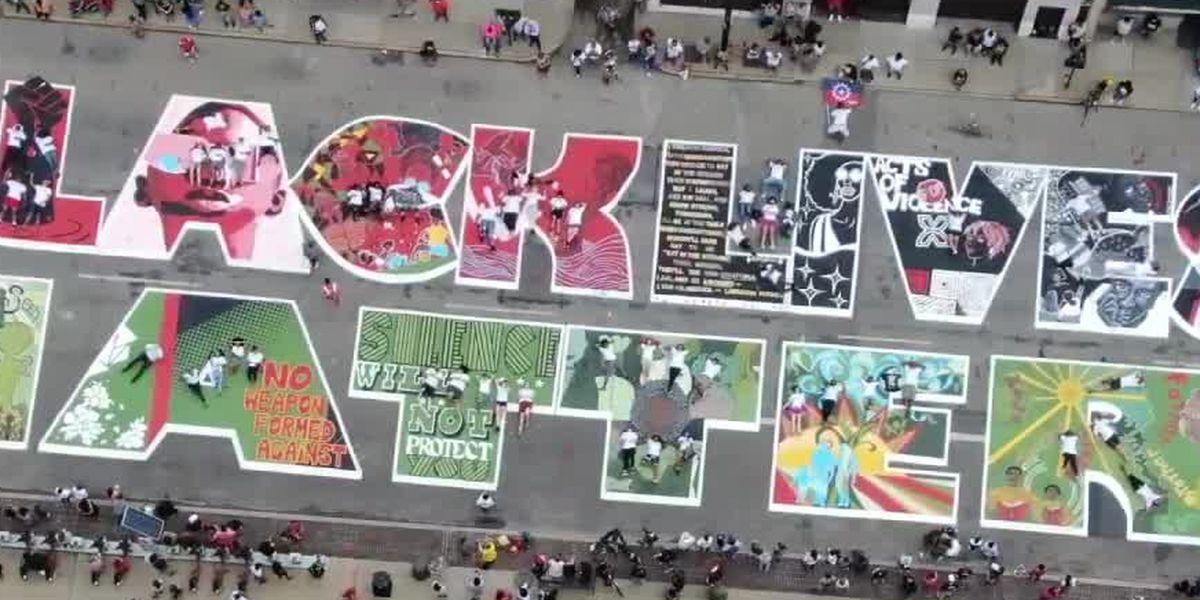Artists awaiting city plan before fixing 'Black Lives Matter!' mural