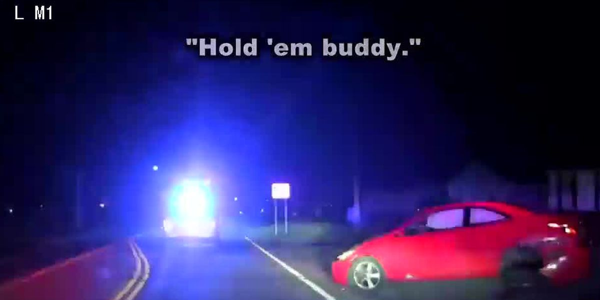 'Good boy:' Video shows K9 take down DUI suspect after police pursuit