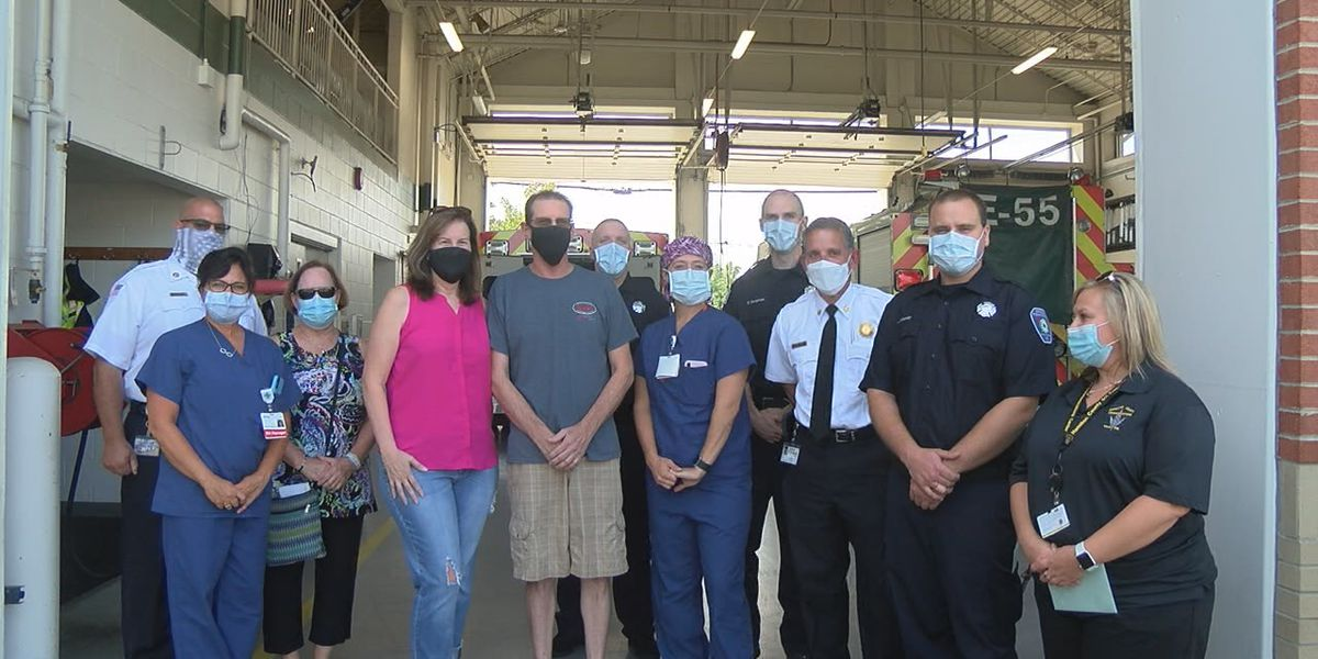 Man gets chance to thank first responders after two near-death experiences in same day