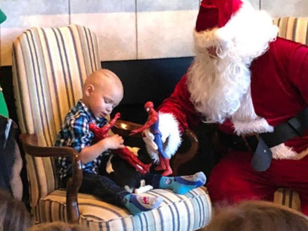 Holiday comes early for toddler battling cancer