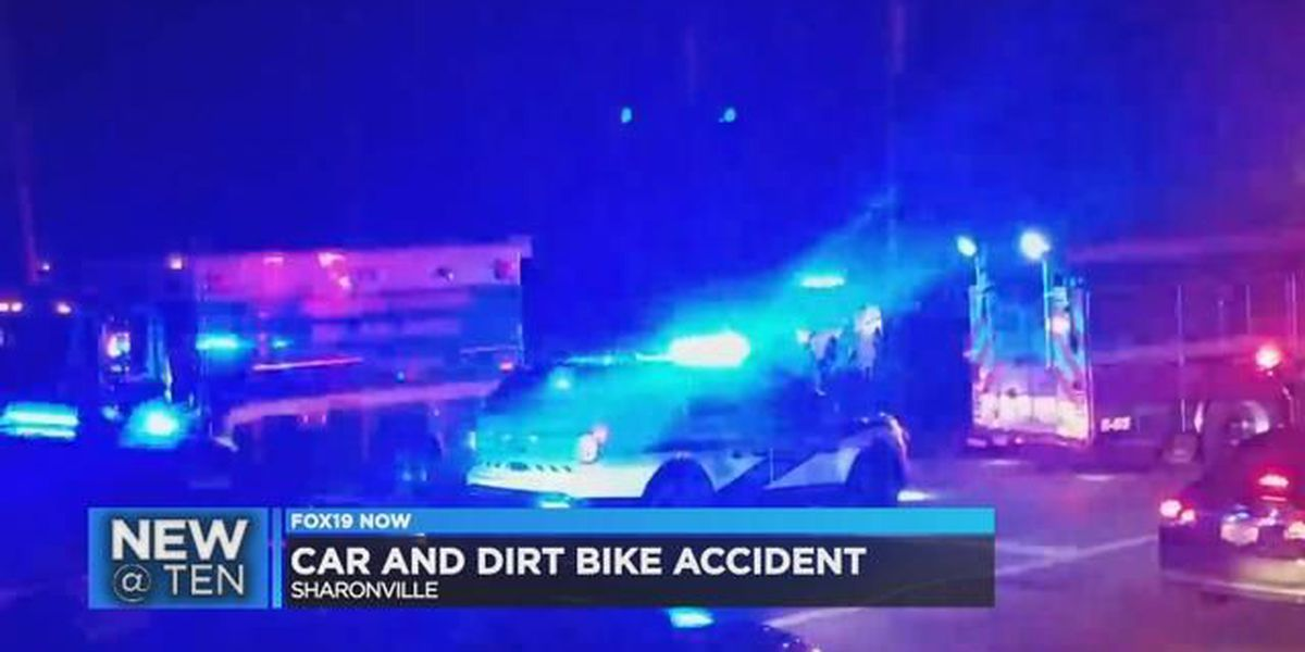 2 injured after car, dirt bike collide in Sharonville