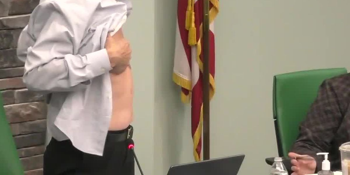 Why a West Chester board member removed his shirt during a recent town hall