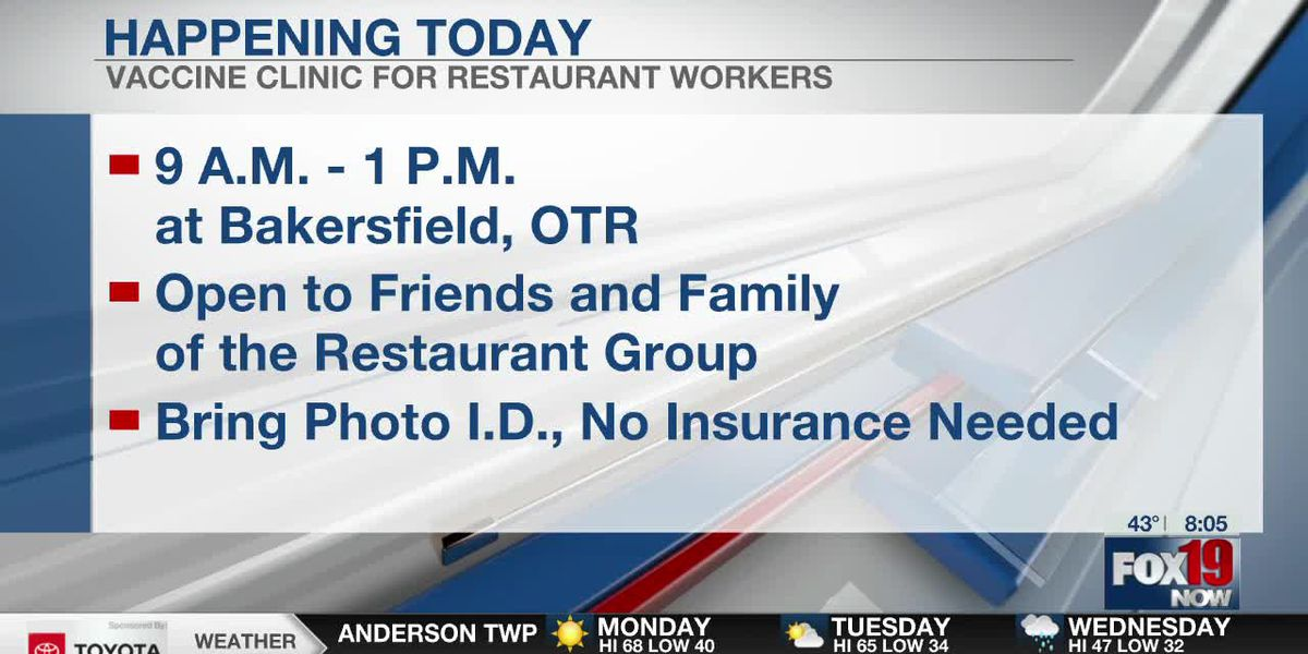 Vaccine clinic for restaurant workers