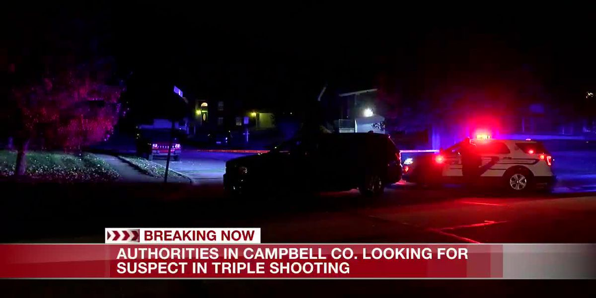 Authorities in Campbell Co. looking for suspect in triple shooting