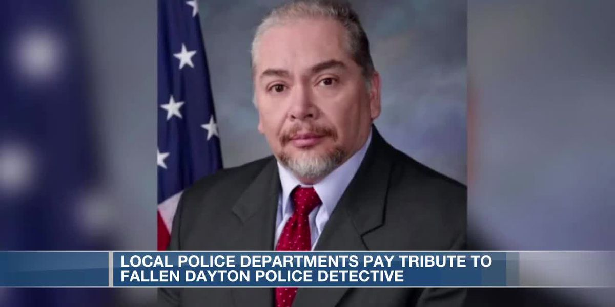 Police departments pay tribute to fallen Dayton police detective