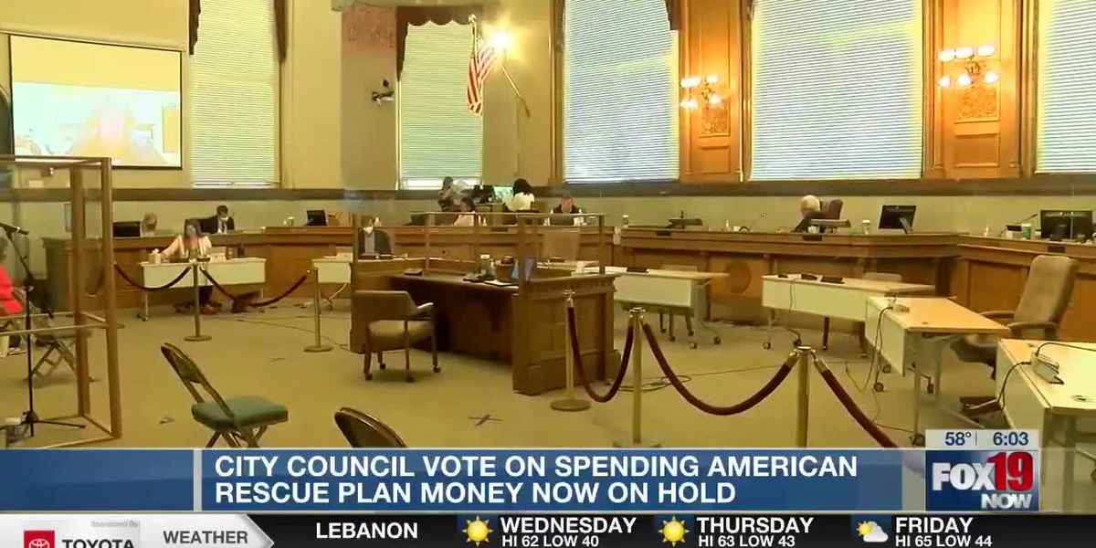 City Council vote on spending American Rescue Plan funds on hold
