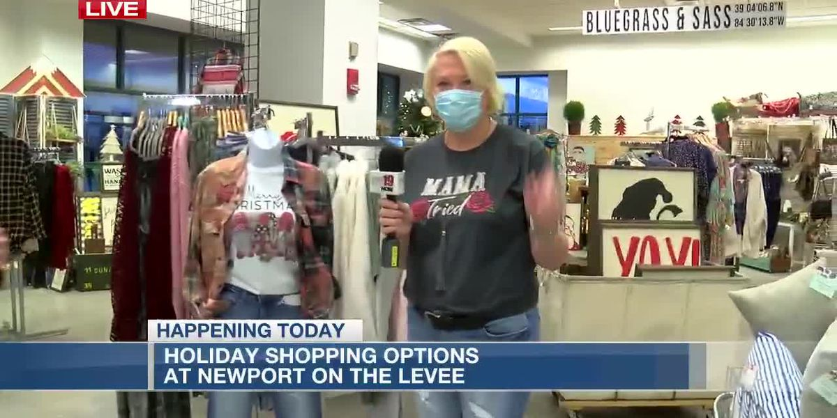 Holiday shopping options at Newport on the Levee
