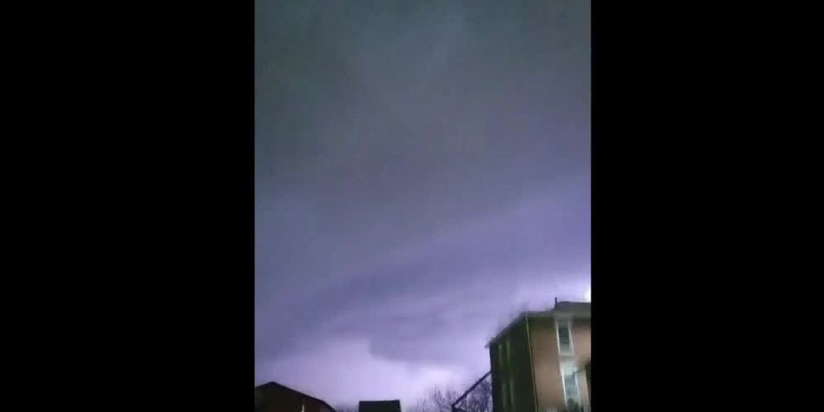 WATCH: Tri-State storms produce lightning displays, possible funnel clouds