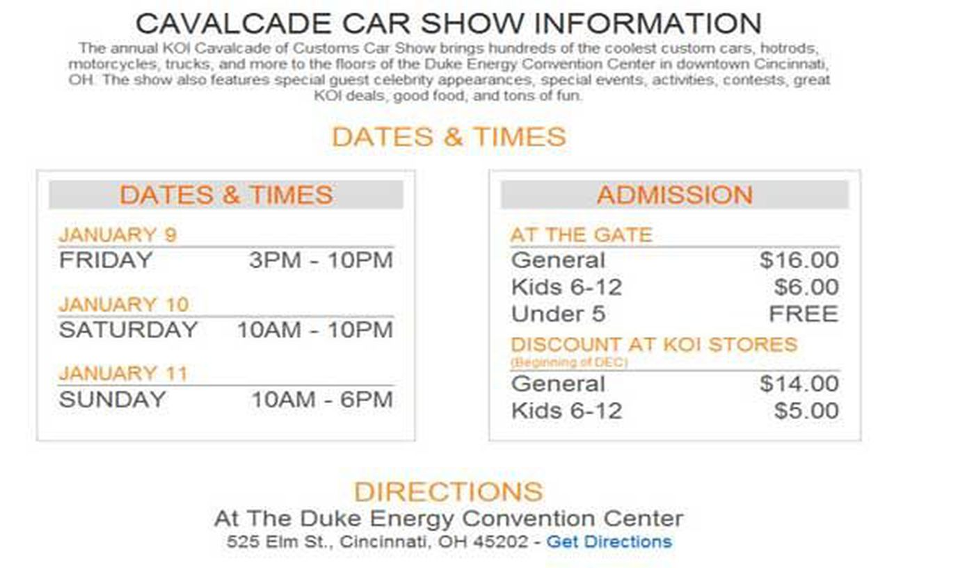 Calvalcade Of Customs This Weekend - Car show duke energy center