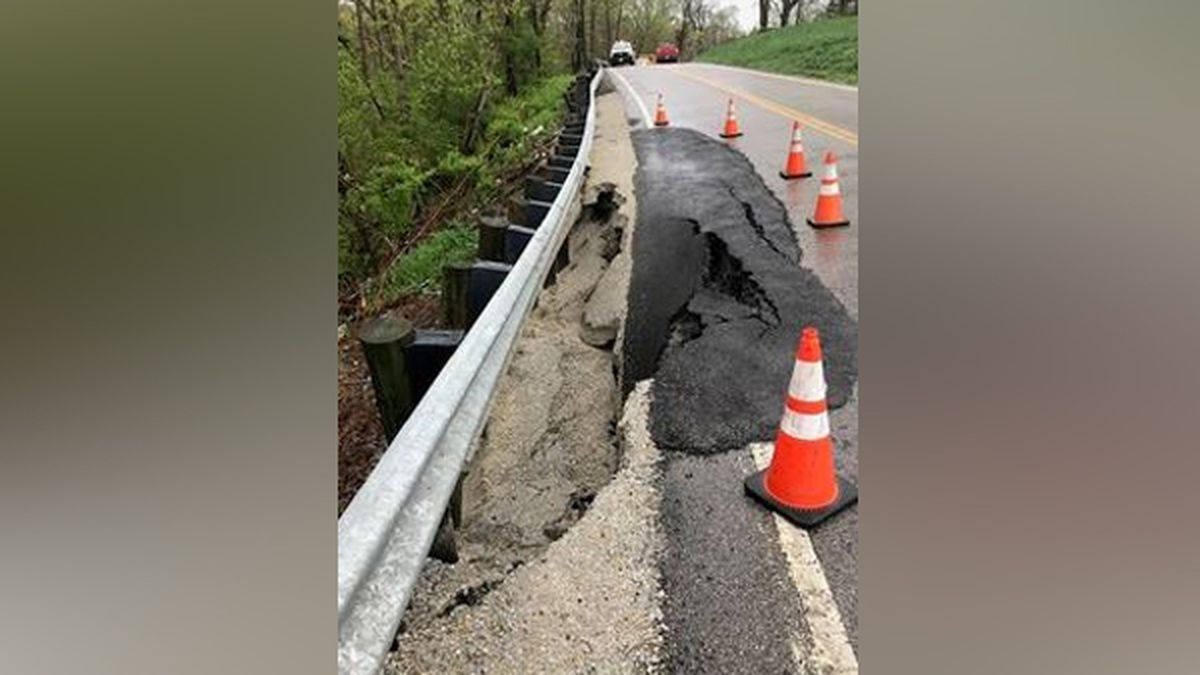 Warren County road will be closed due to landslide