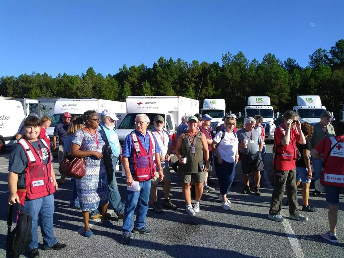 Local American Red Cross crews assisting in the Carolinas