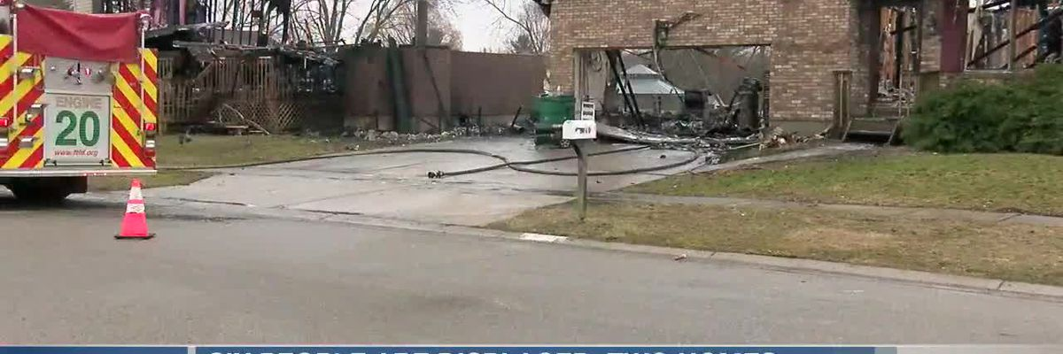Six people displaced, two homes destroyed in Franklin Township fire