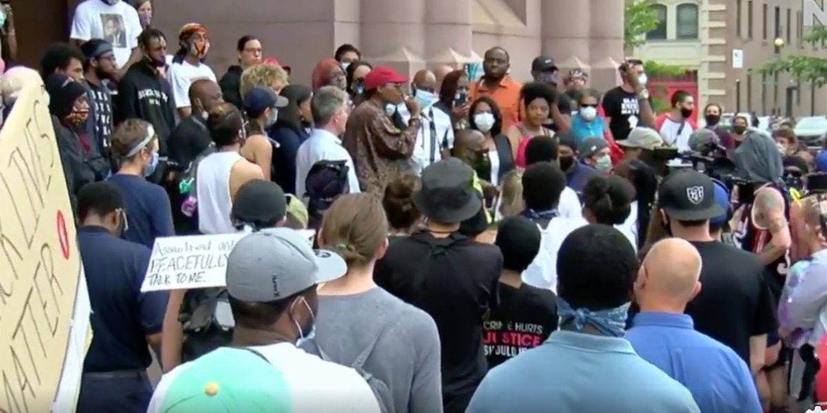 Protesters announce list of demanded reforms to city policing