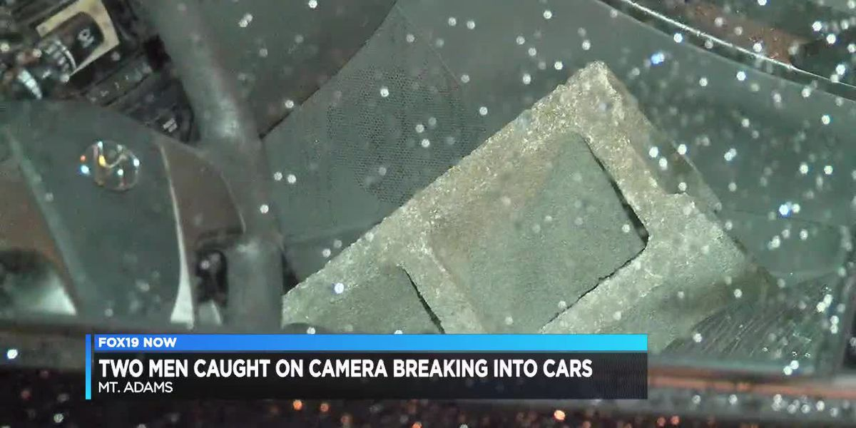 Men caught on camera breaking into cars
