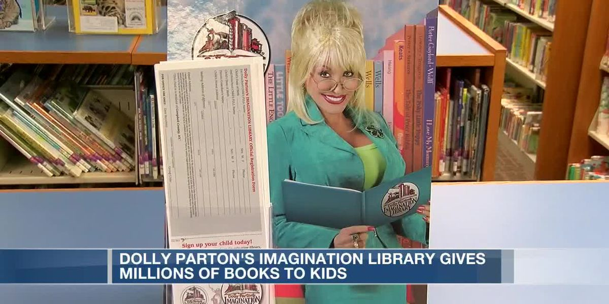 Dolly Parton's Imagination Library gives millions of books to kids