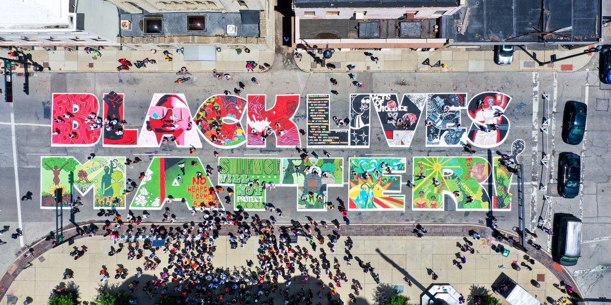 City unveils 'Black Lives Matter!' mural outside City Hall
