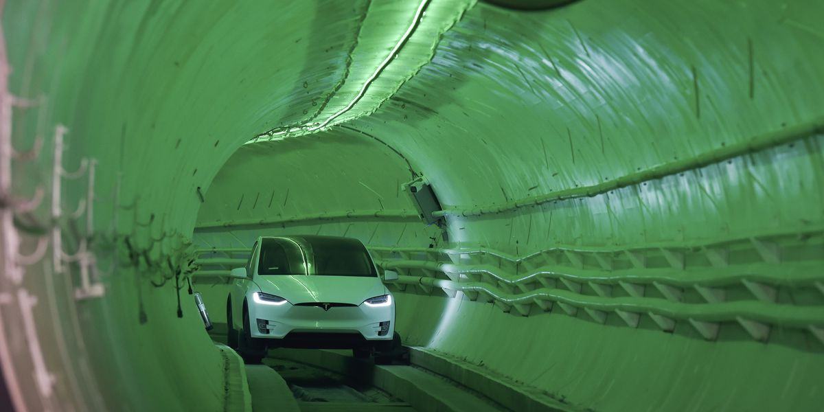 Elon Musk's new tunnel 'a little rough around the edges'