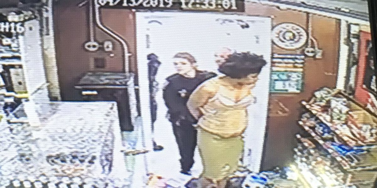 Dramatic video: Woman accused of causing thousands in damage during multi-store rampage