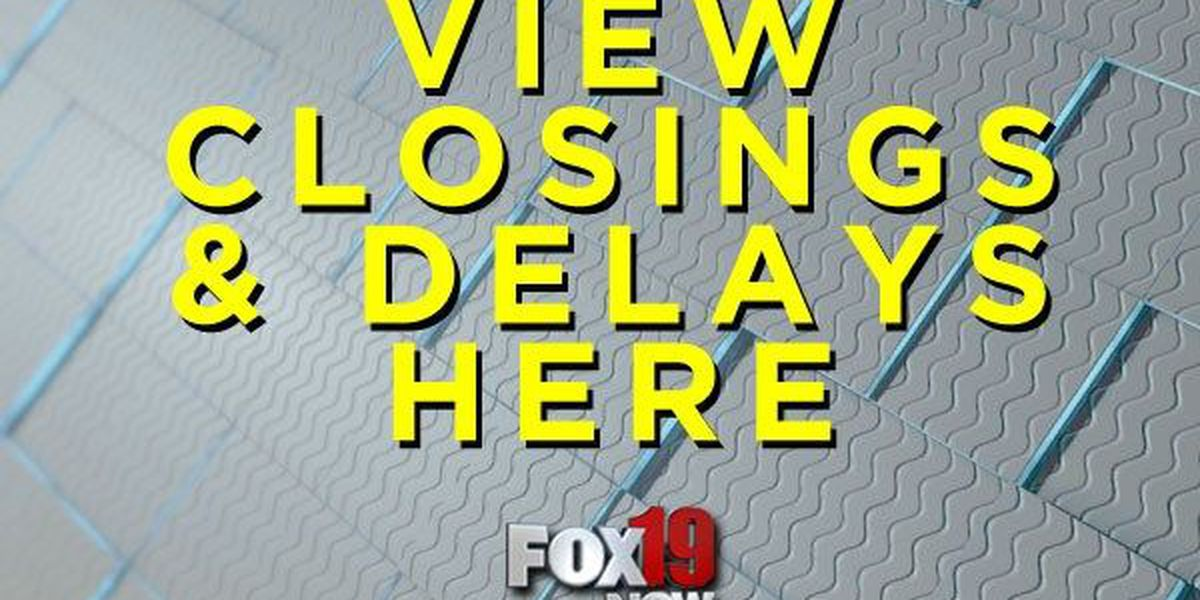View FOX19 NOW closings and delays