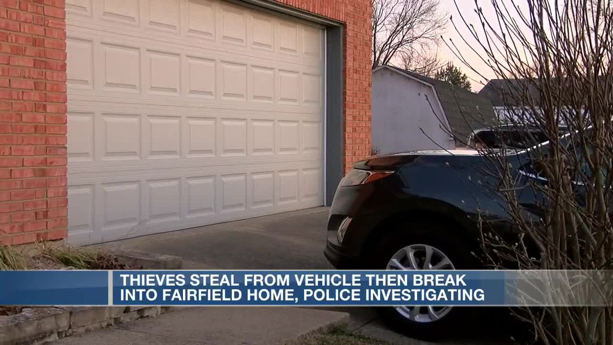Thieves steal from vehicle then beak into Fairfield home, police investigating