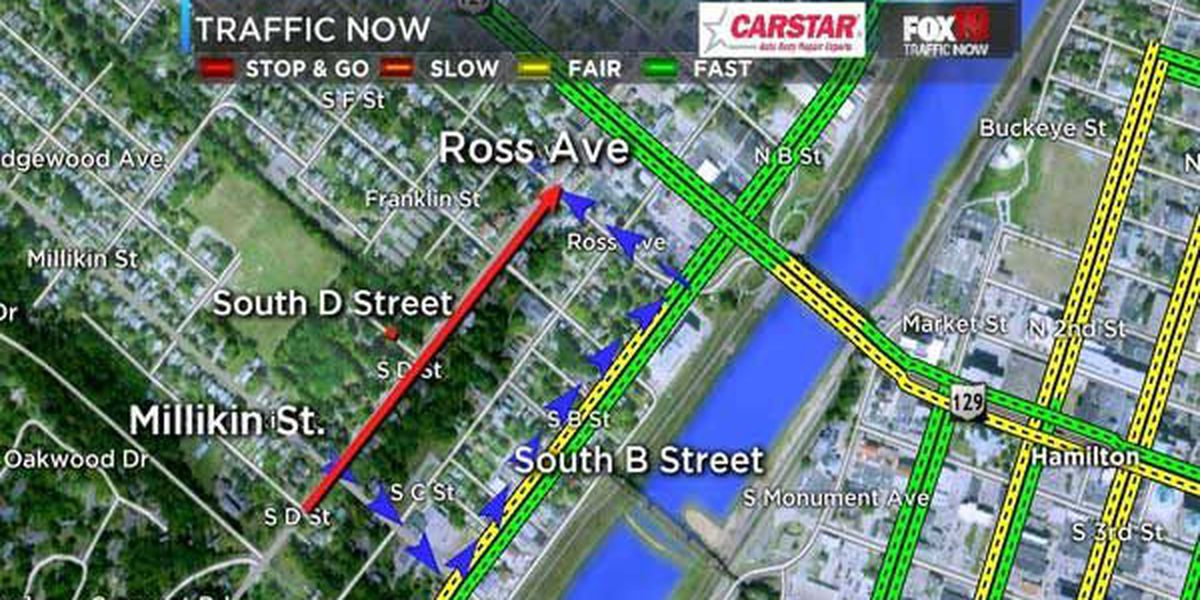 South D Street in Hamilton closing for 95 days