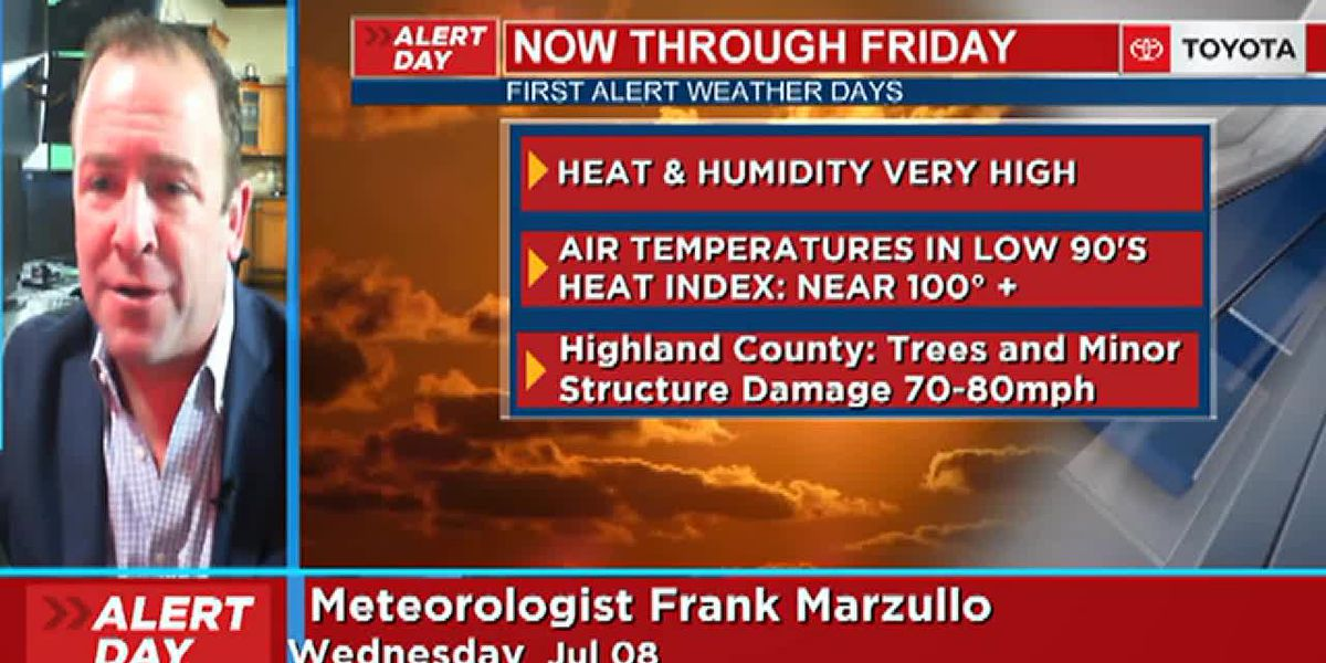 Frank's Wednesday morning forecast 7/8