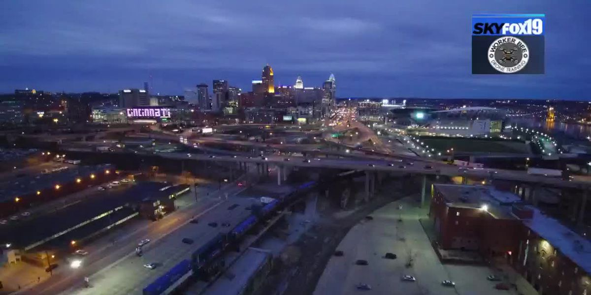 SkyFox19 downtown skyline